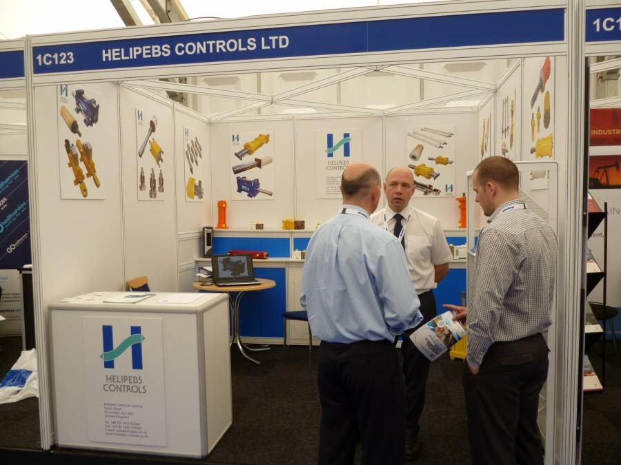 Helipebs exhibits at OE2013 Aberdeen