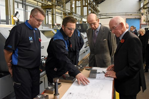 HRH the Duke of Kent at Helipebs Controls