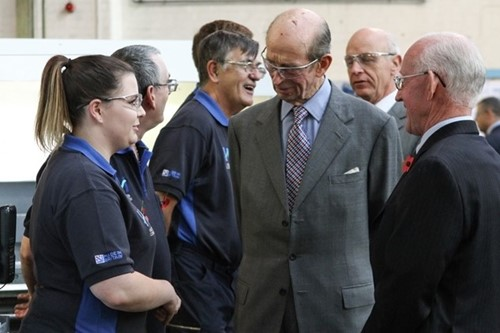 HRH The Duke of Kent meets Helipebs apprentices